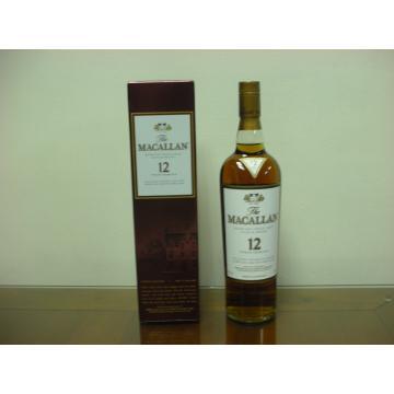 蘇格蘭 麥卡倫 Sherry Oak12年 單一純麥威士忌 700ml