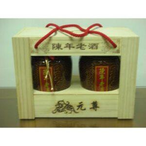 1公斤木盒醰裝陳年老酒